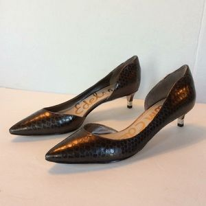 Sam Edelman Linda Crocodile Patterned Pumps